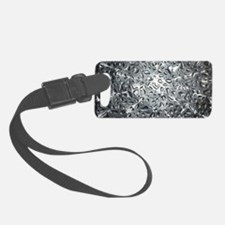 Silver Water Drops Luggage Tag