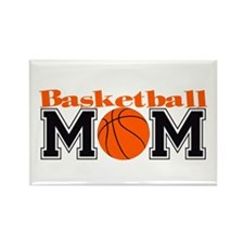 Basketball Mom Rectangle Magnet