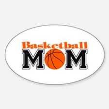 Basketball Mom Oval Decal