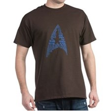 Star Trek Quotes Insignia - Blue T-Shirt