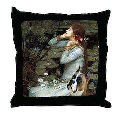 Ophelia & Boxer Throw Pillow