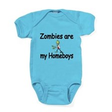 Zombies Are My Homeboys Baby Bodysuit