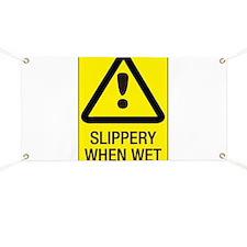 SLIPPERY Banner