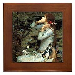Ophelia & Boxer Framed Tile