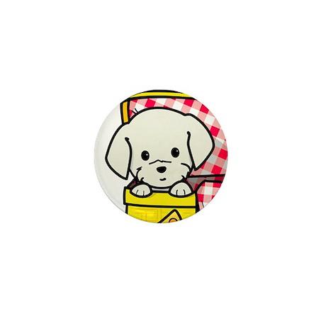 Puppy Picnic Mini Button