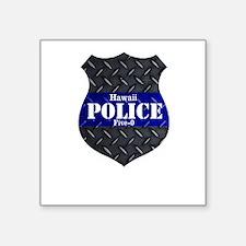 Police Diamond Plate Badge Sticker