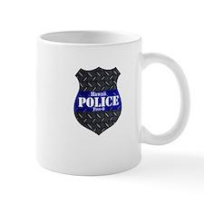 Police Diamond Plate Badge Mugs