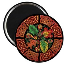 Celtic Autumn Leaves Magnet