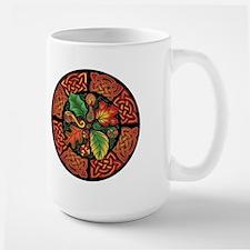 Celtic Autumn Leaves Large Mug