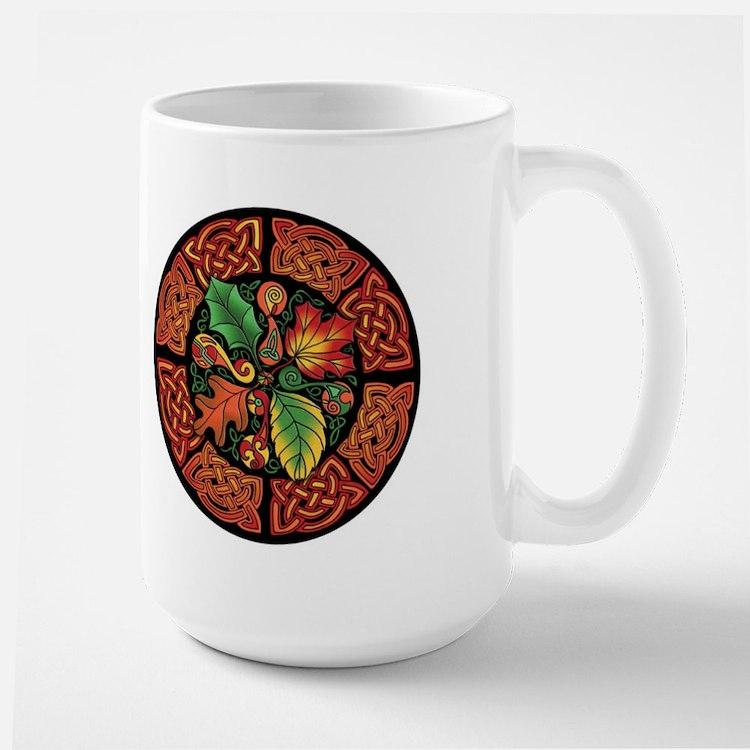 Celtic Autumn Leaves Mug