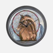 Horse with Dreamcatcher Wall Clock