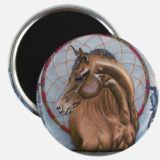Horse with Dreamcatcher Magnet