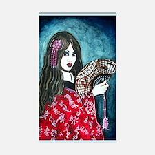 Geisha with Fan Decal