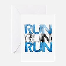Run X 3 Greeting Card