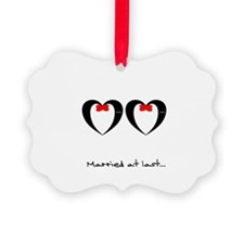 Married at last Gay Wedding Ornament