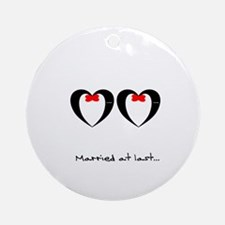Married at last Gay Wedding Ornament (Round)