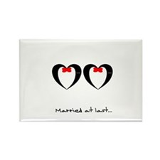 Married at last Gay Wedding Magnets