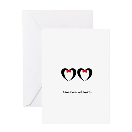 Married at last Gay Wedding Greeting Cards