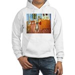 Room with a Boxer Hooded Sweatshirt