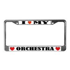 I Love Orchestra License Plate Frame