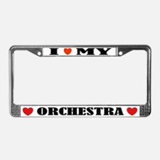 I Love Orchestra License Plate Frame