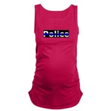 Police Thin Blue Line Maternity Tank Top