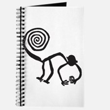 Nazca Monkey (black) Journal