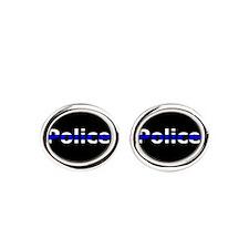 Police Thin Blue Line Cufflinks