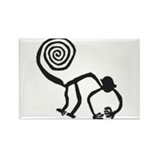 Nazca Monkey (black) Rectangle Magnet (100 pack)
