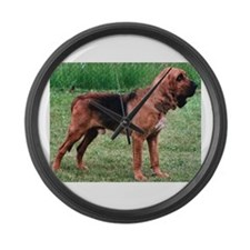 bloodhound full Large Wall Clock