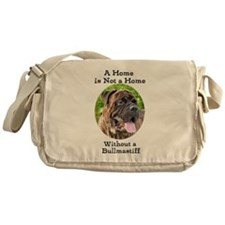 Bullmastiff-A Home is not a home Messenger Bag