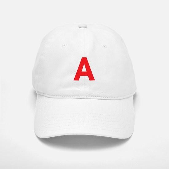 Letter A Red Baseball Baseball Baseball Cap