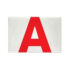 Letter A Red Magnets