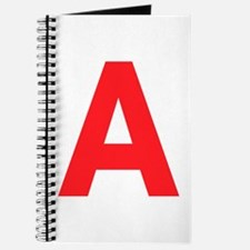Letter A Red Journal