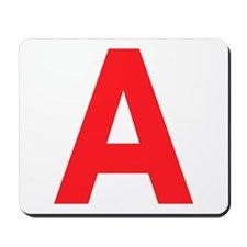 Letter A Red Mousepad