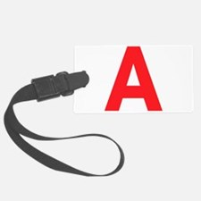 Letter A Red Luggage Tag