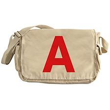 Letter A Red Messenger Bag