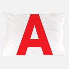 Letter A Red Pillow Case