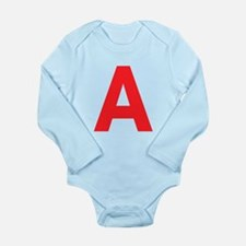 Letter A Red Body Suit