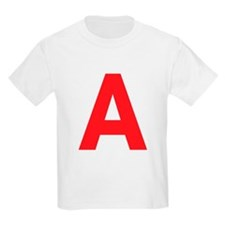Letter A Red T-Shirt