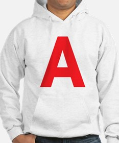 Letter A Red Hoodie