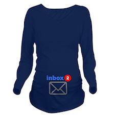 Inbox (Twins) Long Sleeve Maternity T-Shirt