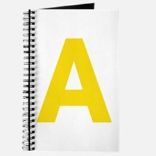 Letter A Yellow Journal