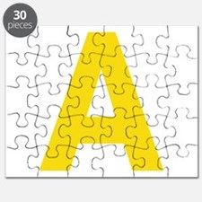 Letter A Yellow Puzzle