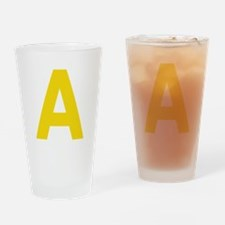 Letter A Yellow Drinking Glass