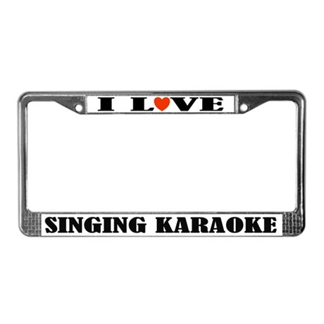 Love Karaoke License Plate Frame