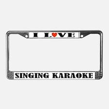 Love Karaoke License Plate Frame