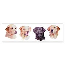 Labrador Art Bumper Bumper Sticker
