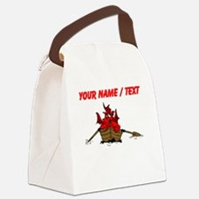 Custom Red Dragon On Boat Canvas Lunch Bag