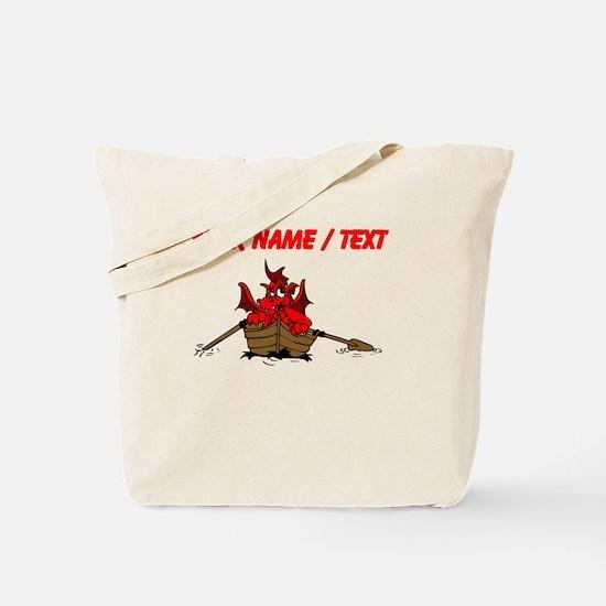 Custom Red Dragon On Boat Tote Bag